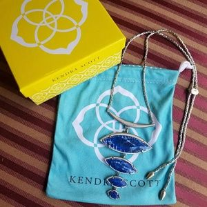 New Blue Agate Kendra Scott Morris Necklace
